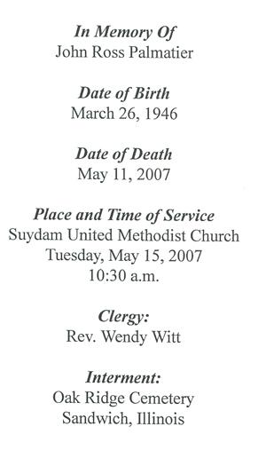 John Palmatier Obituary